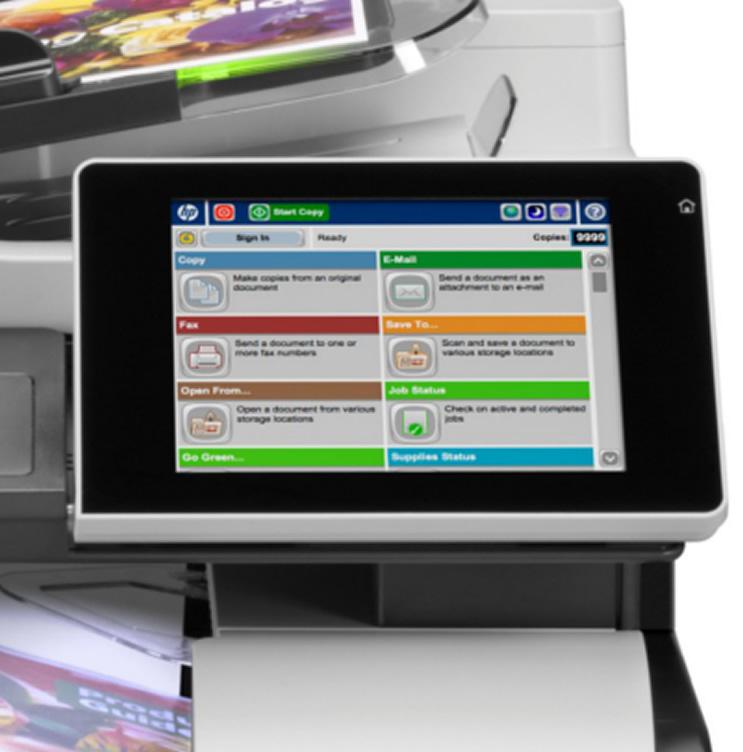 Multifuncional HP LaserJet Enterprise 500 M575F Color Fax, Rede e HP ePrint Seminova