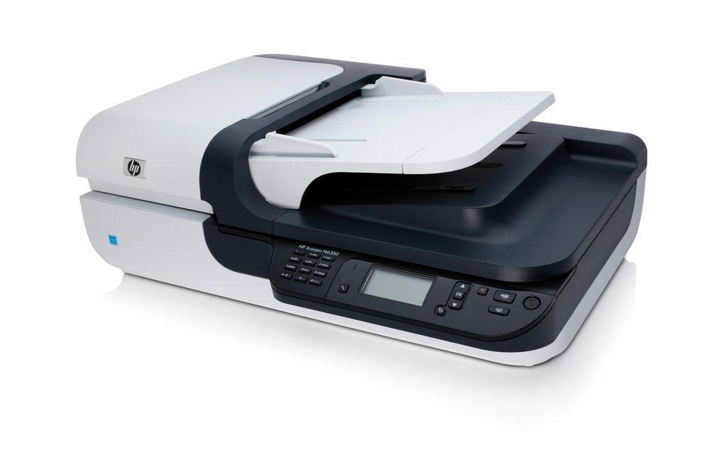 Scanner de mesa HP Scanjet N6350 com conexão em rede