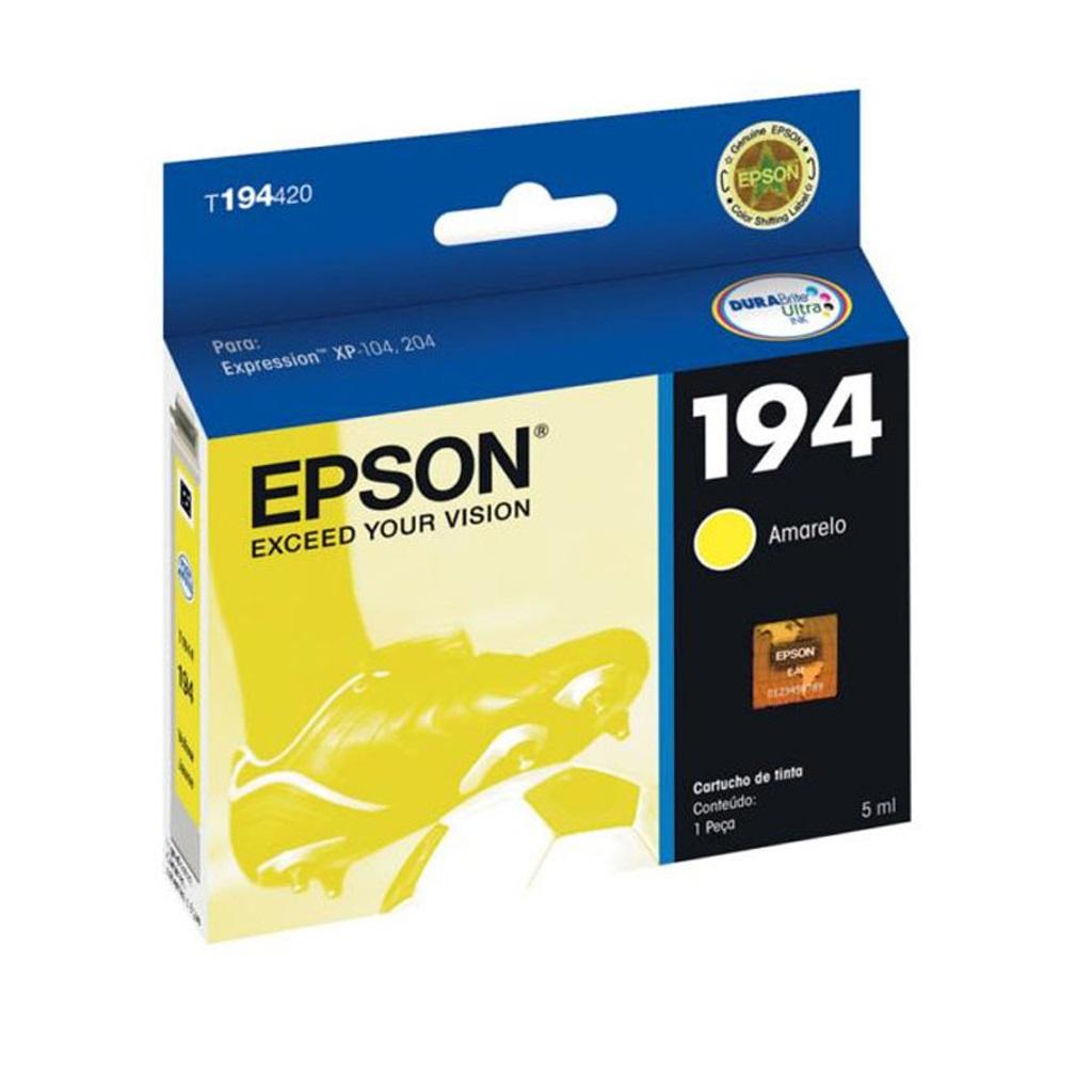 Cartucho Epson 194 Original T194420 Yellow | Expression XP104 | XP204