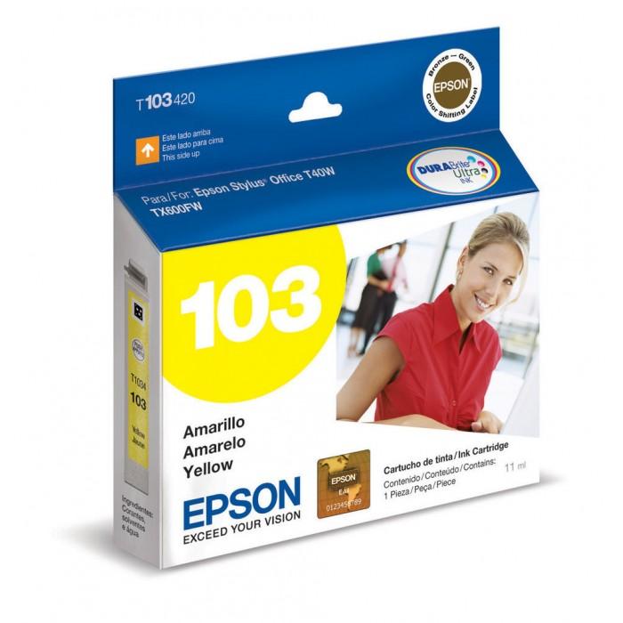 Cartucho Epson 103 Original T103420 Yellow   TX550W   T1110   T40W   TX515FN