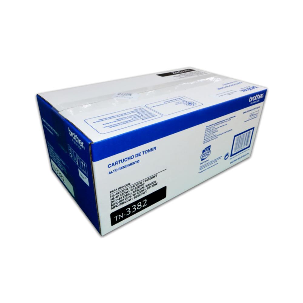 Toner Brother Original TN-3382 | TN3382 Black  | HL-5452 | DCP-8112
