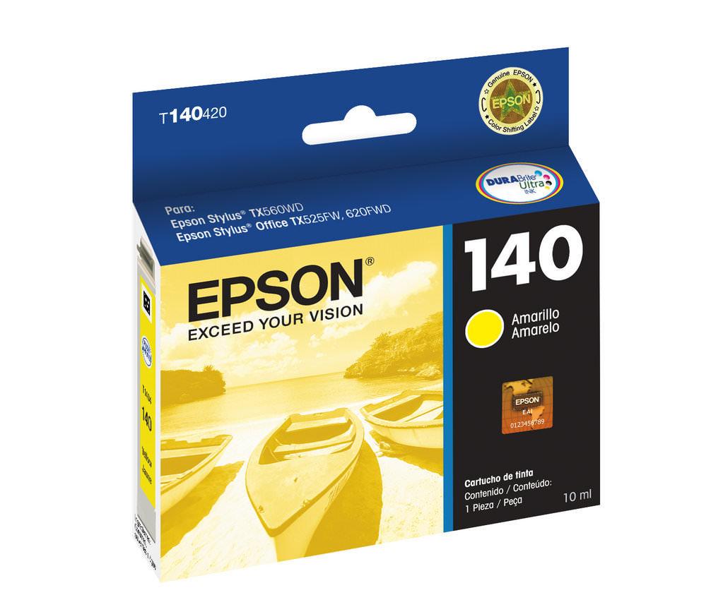 Cartucho Epson 140 Original T140420 Yellow | TX560WD | TX620FWD | WF-3012 | T42WD