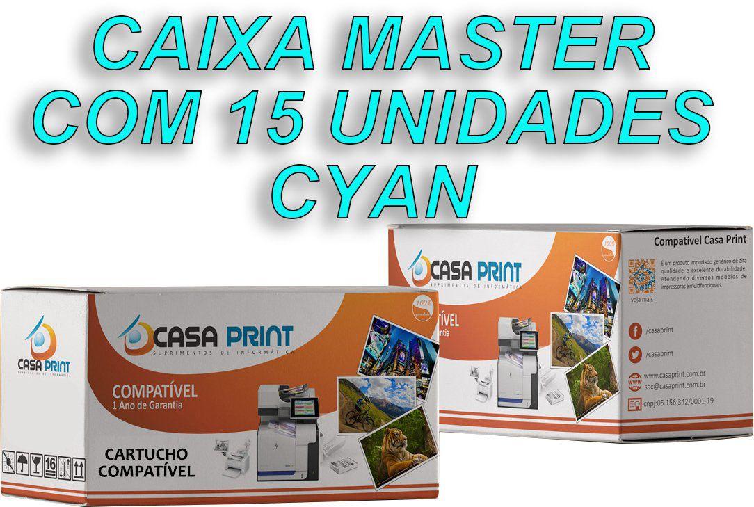 Caixa 15 Unid Toner  HP 125A Compatível  CB541A Cyan | CP1215