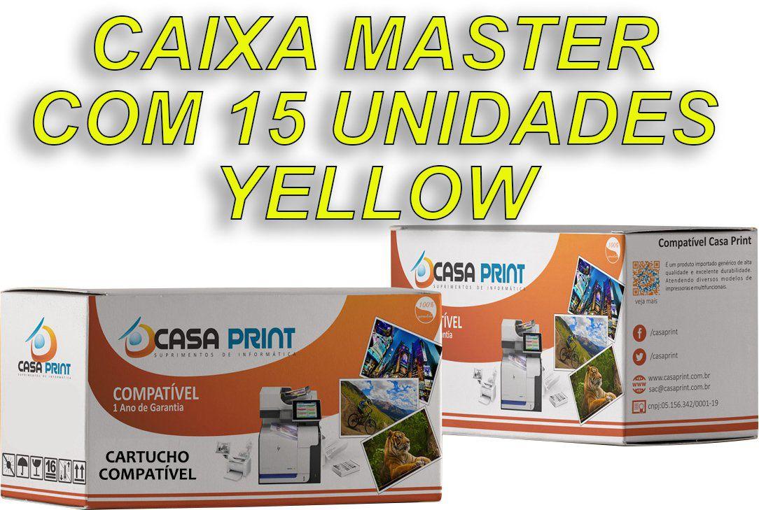 Caixa 15 Unid Toner  HP 125A Compatível  CB542A Yellow | CP1215