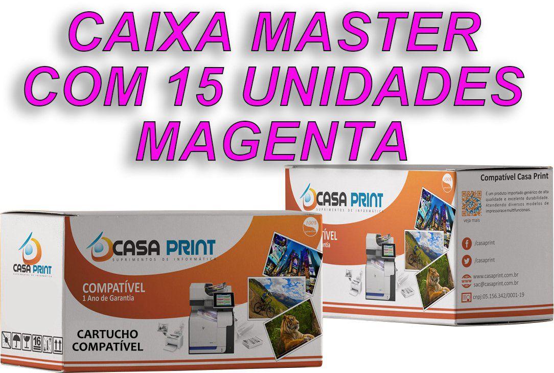 Caixa Master Toner HP 125A Compatível CB543A Magenta | CP1215 | CM1312 | CP1515 | 15 unid