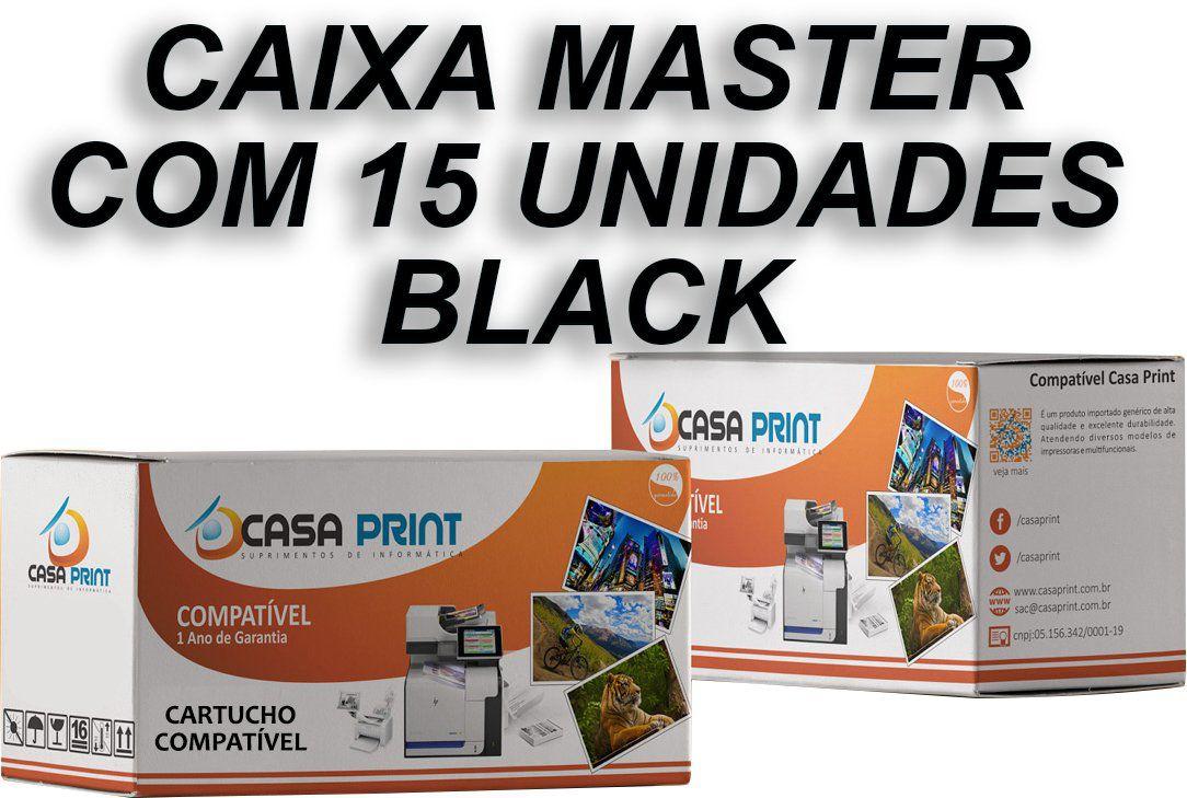 Caixa 15 Unid Toner HP 305A Compatível CE410A Black   M351