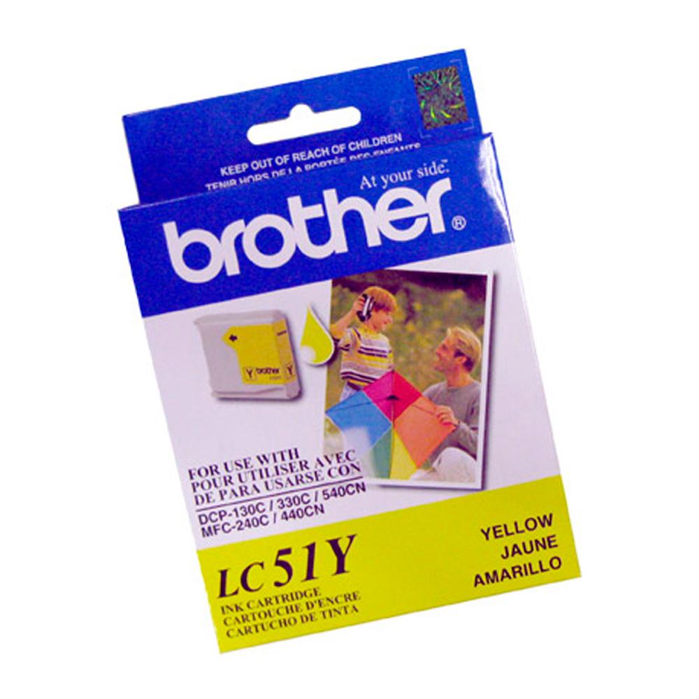 Cartucho Brother Original LC51Y | LC-51Y Yellow | DCP-130 | 330C | 540CN | MFC-240C | 440CN