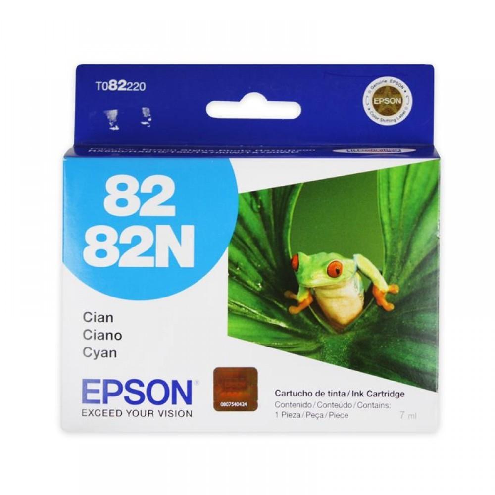 Cartucho Epson 82N Original T082220 Cyan | R270 | R290 | RX590 | RX610