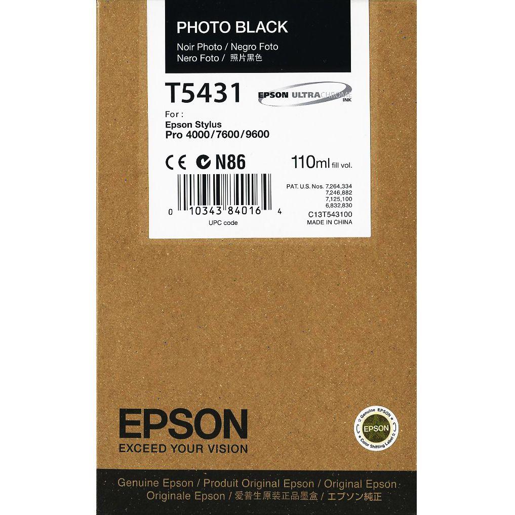 Cartucho Epson Original T543100 Photo Black ´Sem Caixa´