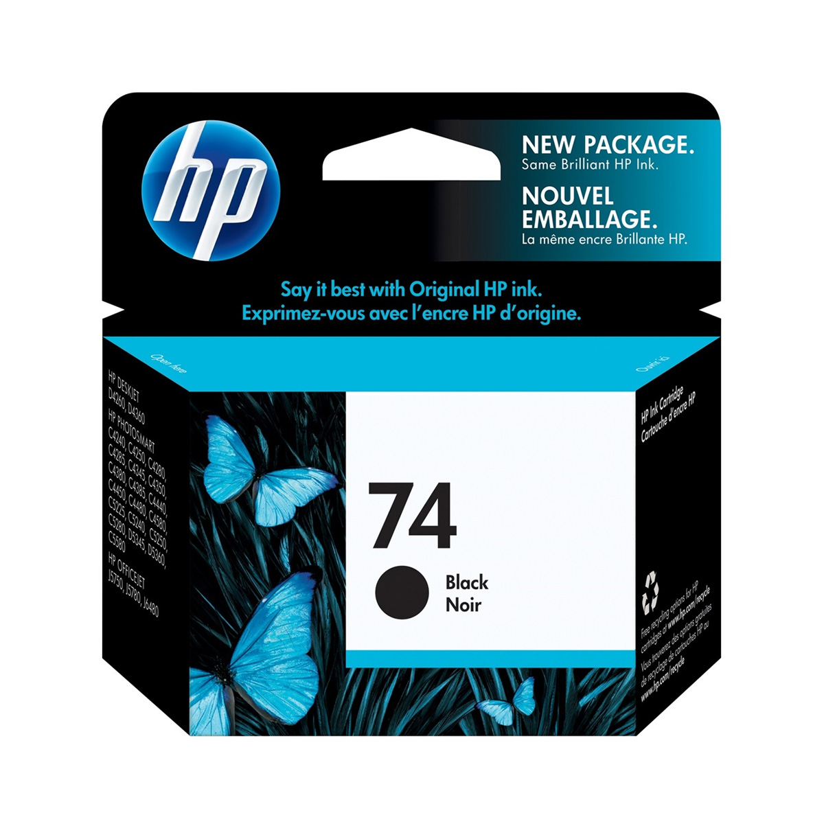 Cartucho HP 74 Original CB335WB Black | D4260 | J6480 | C4440 | C4550
