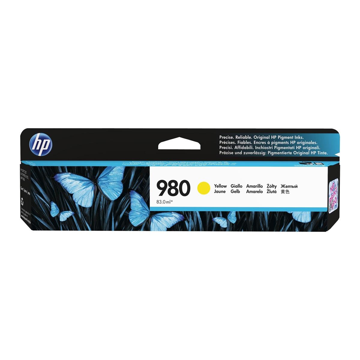 Cartucho HP 980 Original D8J09A Yellow | X555DN | X555XH | X585Z | X585F | X585DN