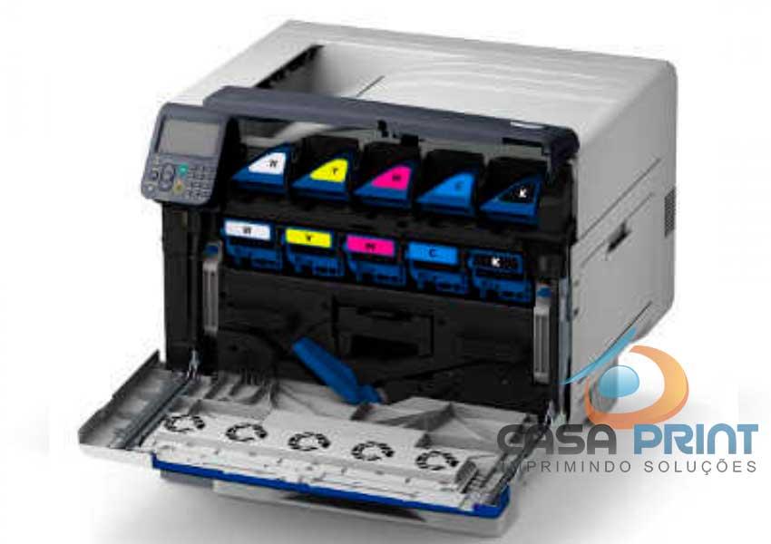 "Impressora OKI C941  Toner Branco e Clear |""Acompanha Toners"""