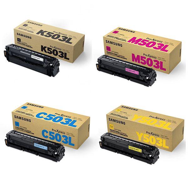Kit 4 Toners Samsung Original CLT-CMYK503L | SL-C3010DW | SL-C3060FW