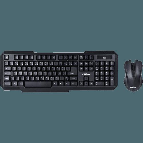 Kit Bright Teclado (ABNT) + Mouse Óptico Slim Sem fio - 0055