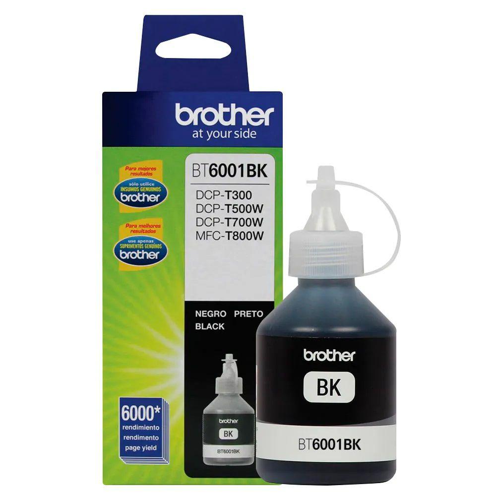 Refil de Tinta Brother BT6001BK Black Original 108ML