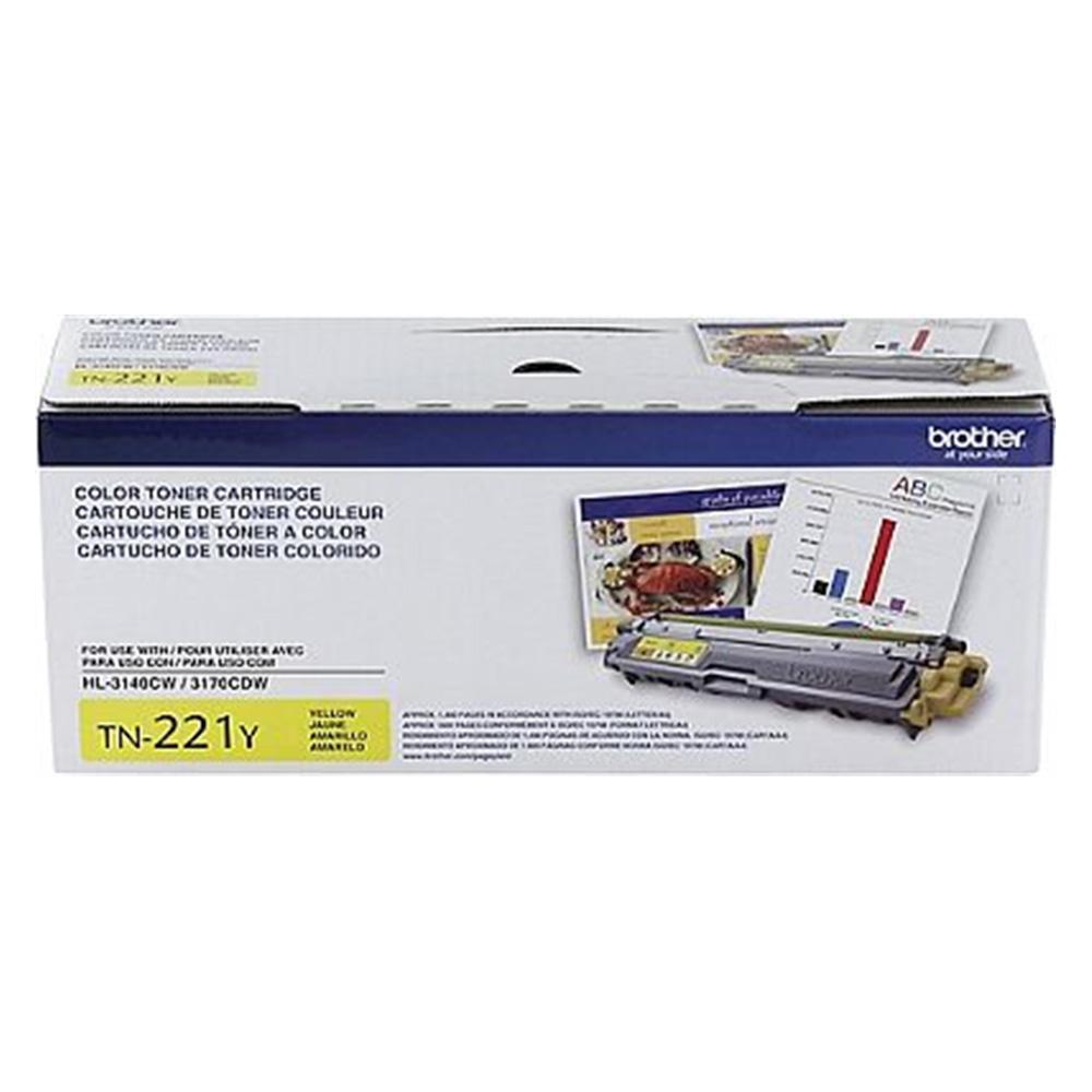 Toner Brother Original TN-221Y | TN221Y Yellow | HL3140 | DCP9020 | MFC9130