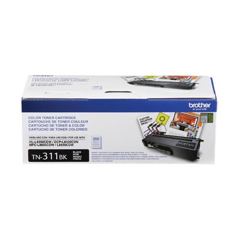 Toner Brother Original TN-311BK | TN311BK Black | HL-L8350CDW | DCP-L8400CDN | MFC-L8600CDW | MFC-L8850CDW