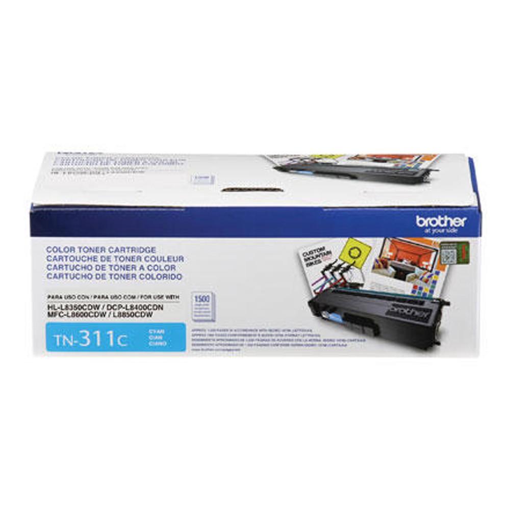 Toner Brother Original TN-311C | TN311C Cyan | HL-L8350CDW | DCP-L8400CDN | MFC-L8600CDW | MFC-L8850CDW