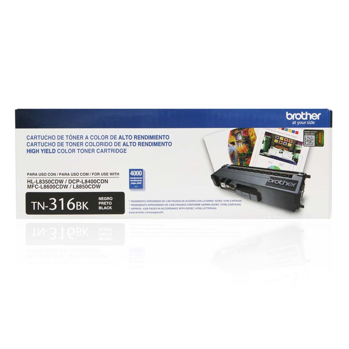 Toner Brother Original TN-316BK | TN316BK Black | HL-L8350CDW | MFC-L8600CDW | DCP-L8400CDN | MFC-L8850CDW