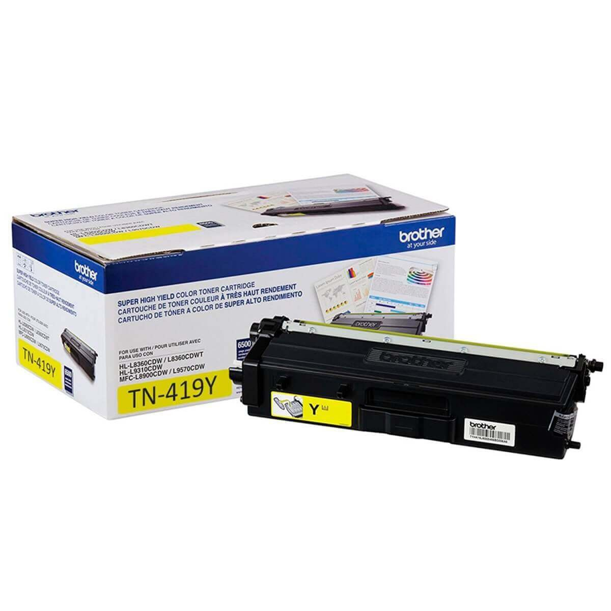 Toner Brother Original TN-419Y Yellow | HLL8360  | MFCL8610 | MFCL8900 | MFCL9570