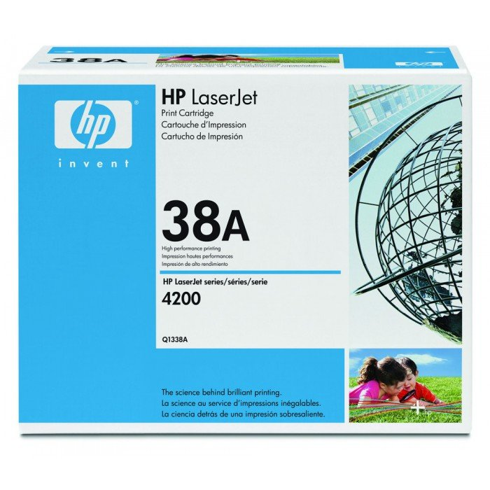 Toner HP 38A Original Q1338A Black | 4200 | 4200n | 4240n