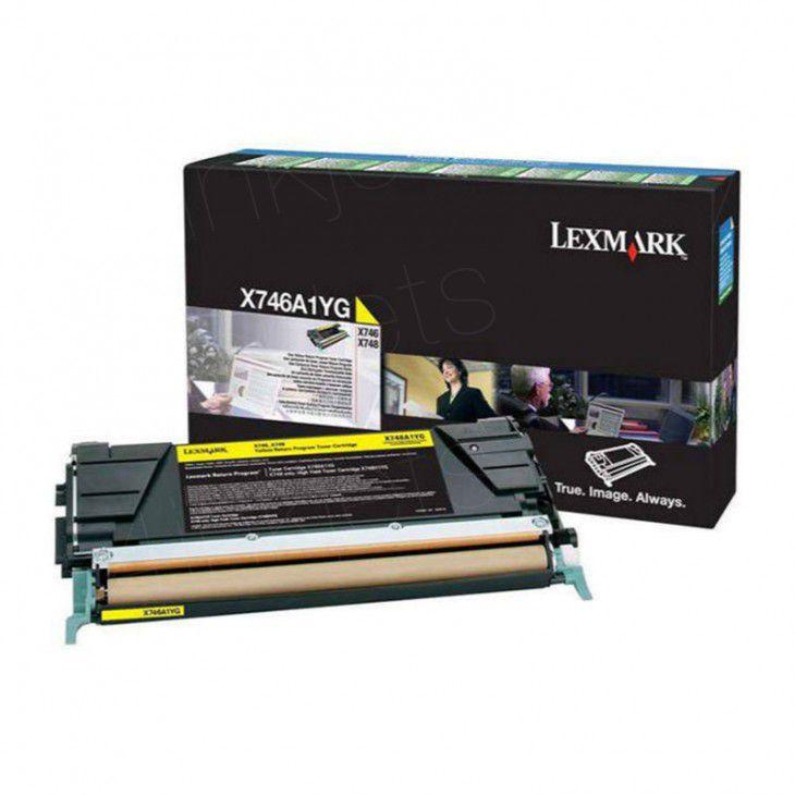 Toner Lexmark Original X746A2YG Yellow | X746 | X748