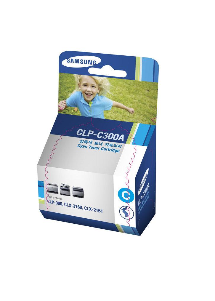 Toner Samsung Original CLP-C300A Cyan   CLP-300   CLX-2160   CLX-3160