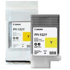 Cartucho de Tinta Canon PFI102Y Amarelo p/ Plotter