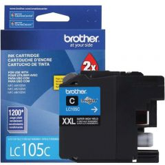 Cartucho de Tinta Brother LC105C Ciano Alto Rendimento