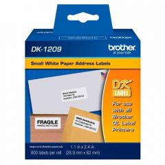 Etiqueta de Endereço Pequena DK1209 29mm x 62mm rolo c/ 800 unds Brother