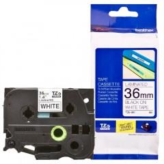 Fita p/ Rotulador TZ261 36mm Preto sobre Branco Brother