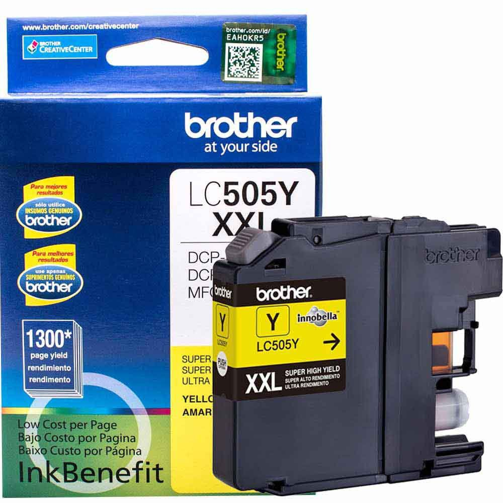 Cartucho de Tinta Brother LC505Y Amarelo Ultra Rendimento