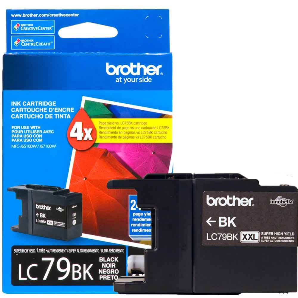 Cartucho de Tinta Brother LC79BK Preto Alto Rendimento