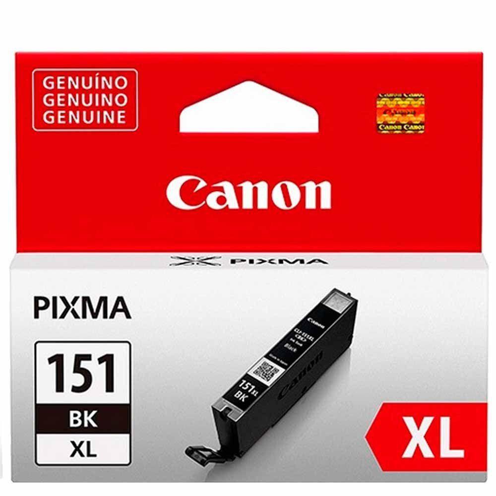 Cartucho de Tinta Canon CLI151BKXL Preto Alto Rendimento