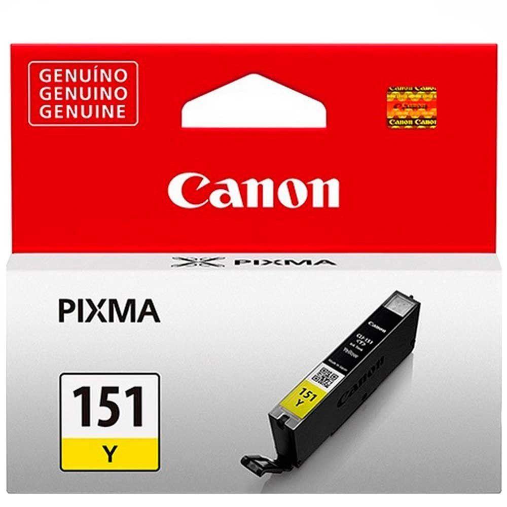 Cartucho de Tinta Canon CLI151Y Amarelo