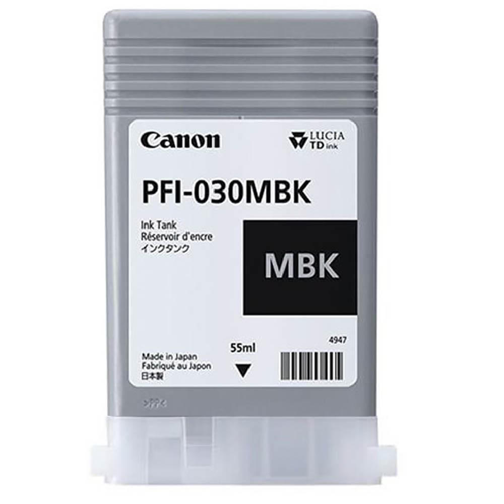 Cartucho de Tinta Canon PFI030MBK Preto Fosco p/ Plotter