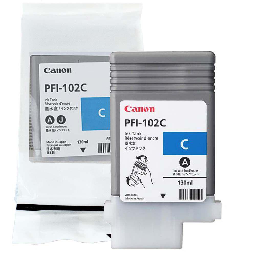Cartucho de Tinta Canon PFI102C Azul p/ Plotter
