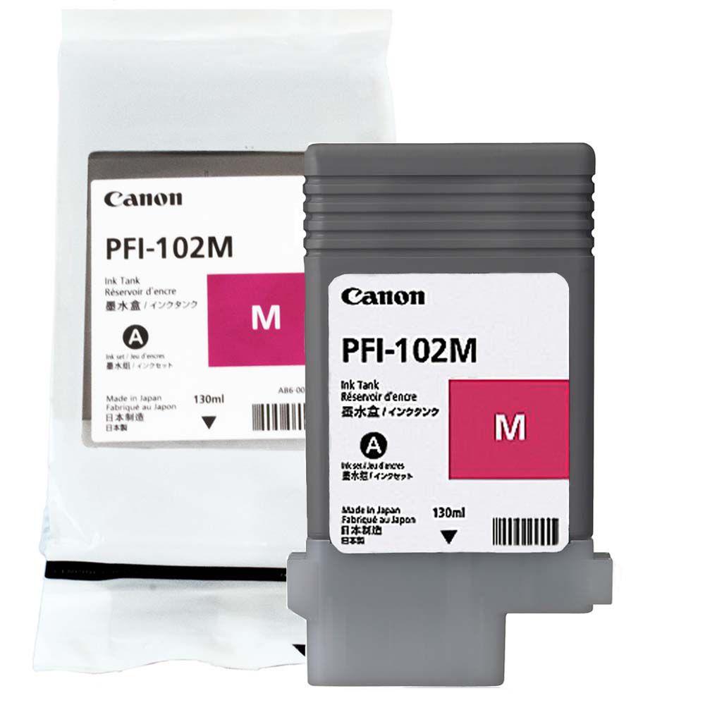 Cartucho de Tinta Canon PFI102M Magenta p/ Plotter