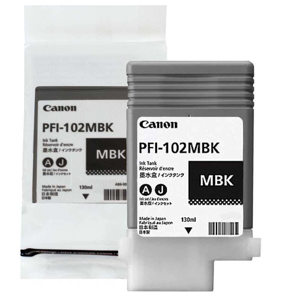 Cartucho de Tinta Canon PFI102MBK Preto Matte p/ Plotter