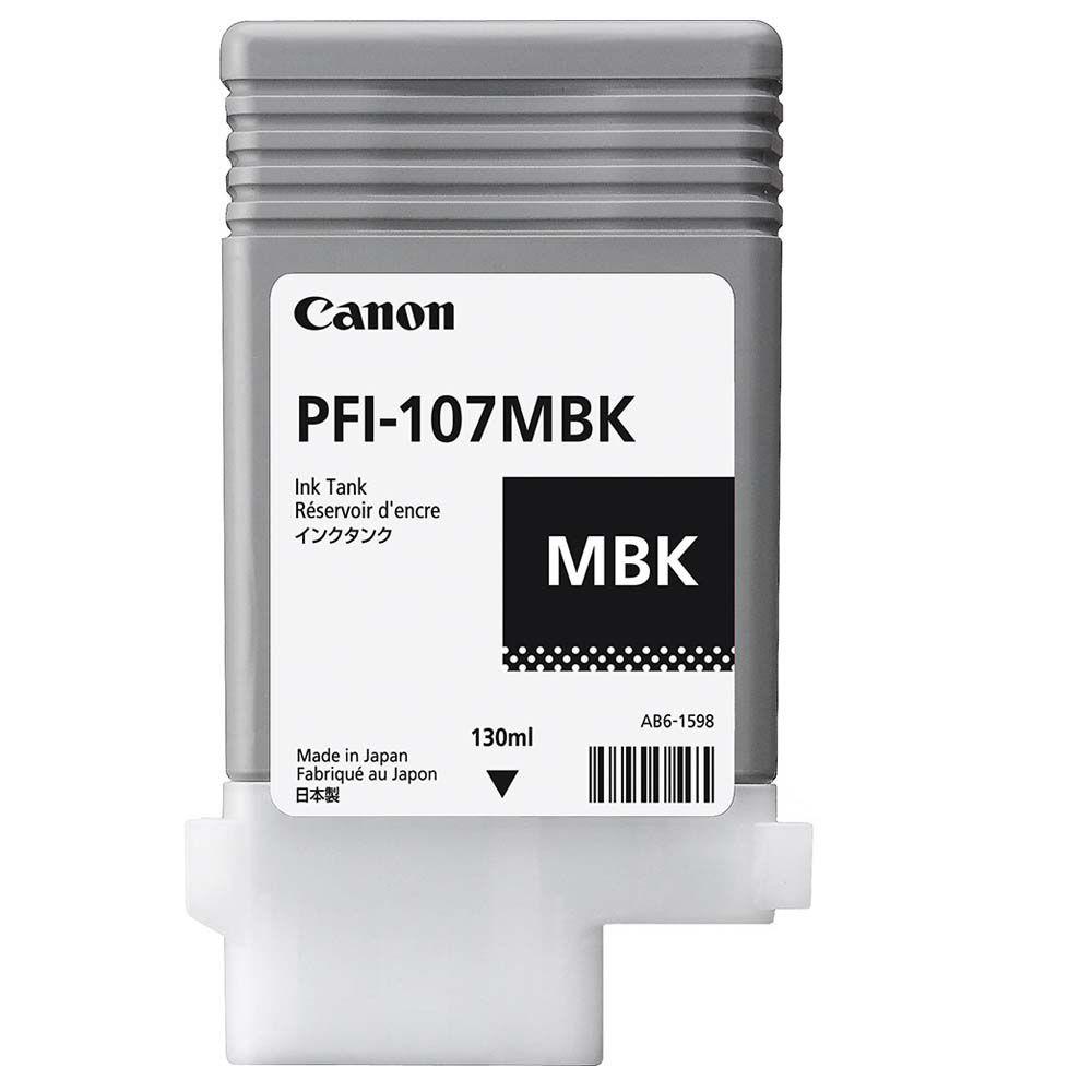 Cartucho de Tinta Canon PFI107MBK Preto Matte p/ Plotter