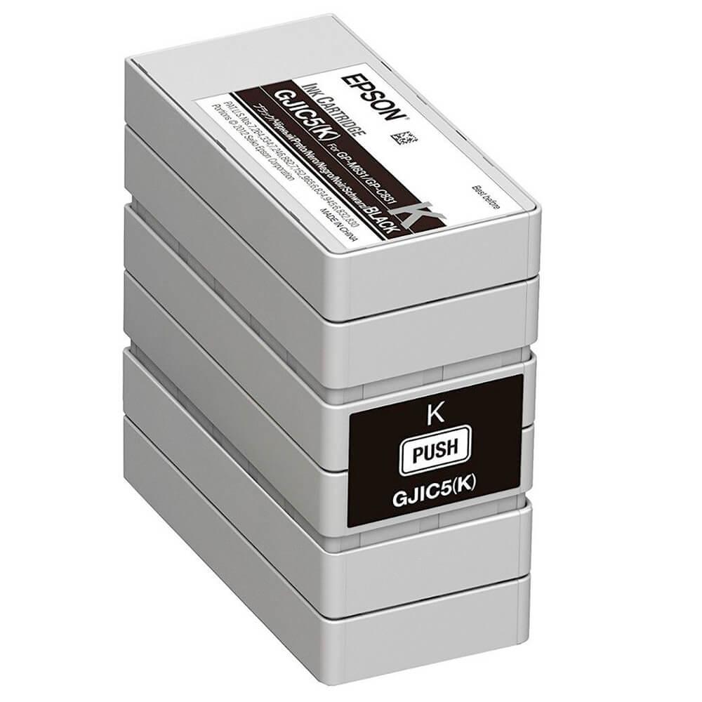 Cartucho de Tinta Epson C13S020563 GJIC5BK Preto