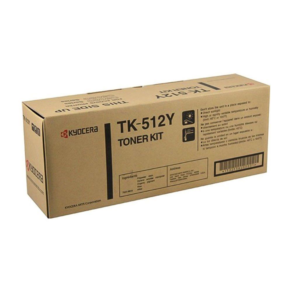 Cartucho de Toner Kyocera TK512Y Amarelo