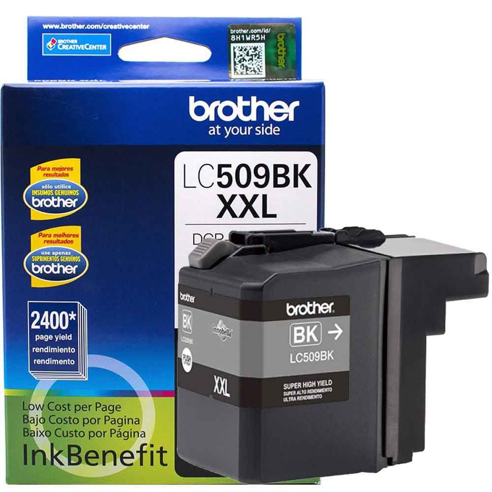 Cartucho de Tinta Brother LC509BK Preto Ultra Rendimento