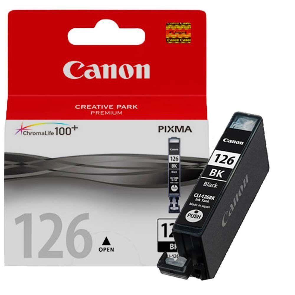 Cartucho de Tinta Canon CLI126BK Preto
