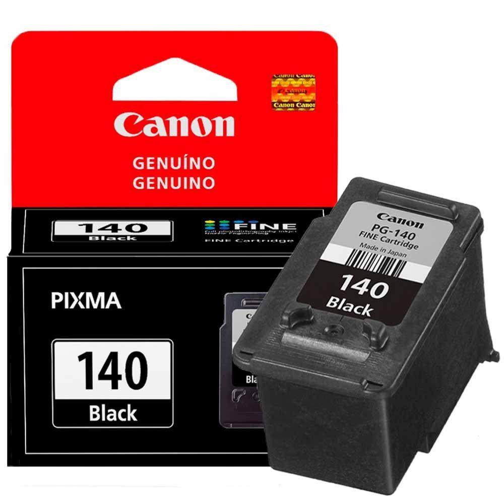 Cartucho de Tinta Canon PG140 Preto 8ml