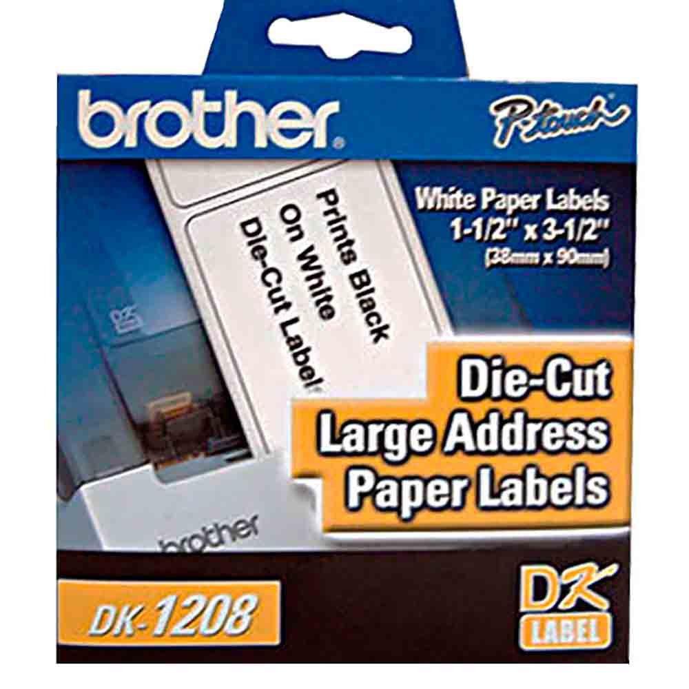 Etiqueta de Endereço Grande DK1208 38x90mm rolo c/ 400 unds Brother