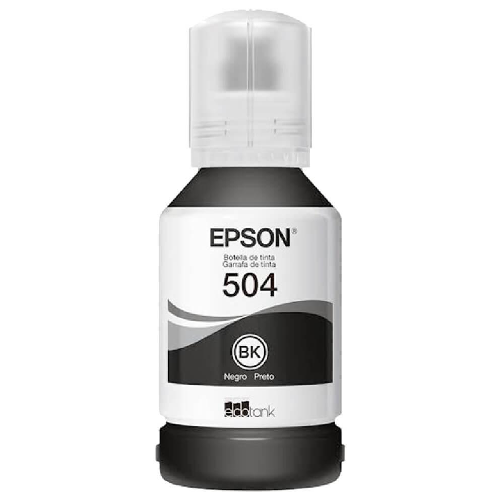 Garrafa de Tinta Epson T504120-AL T504 Preto