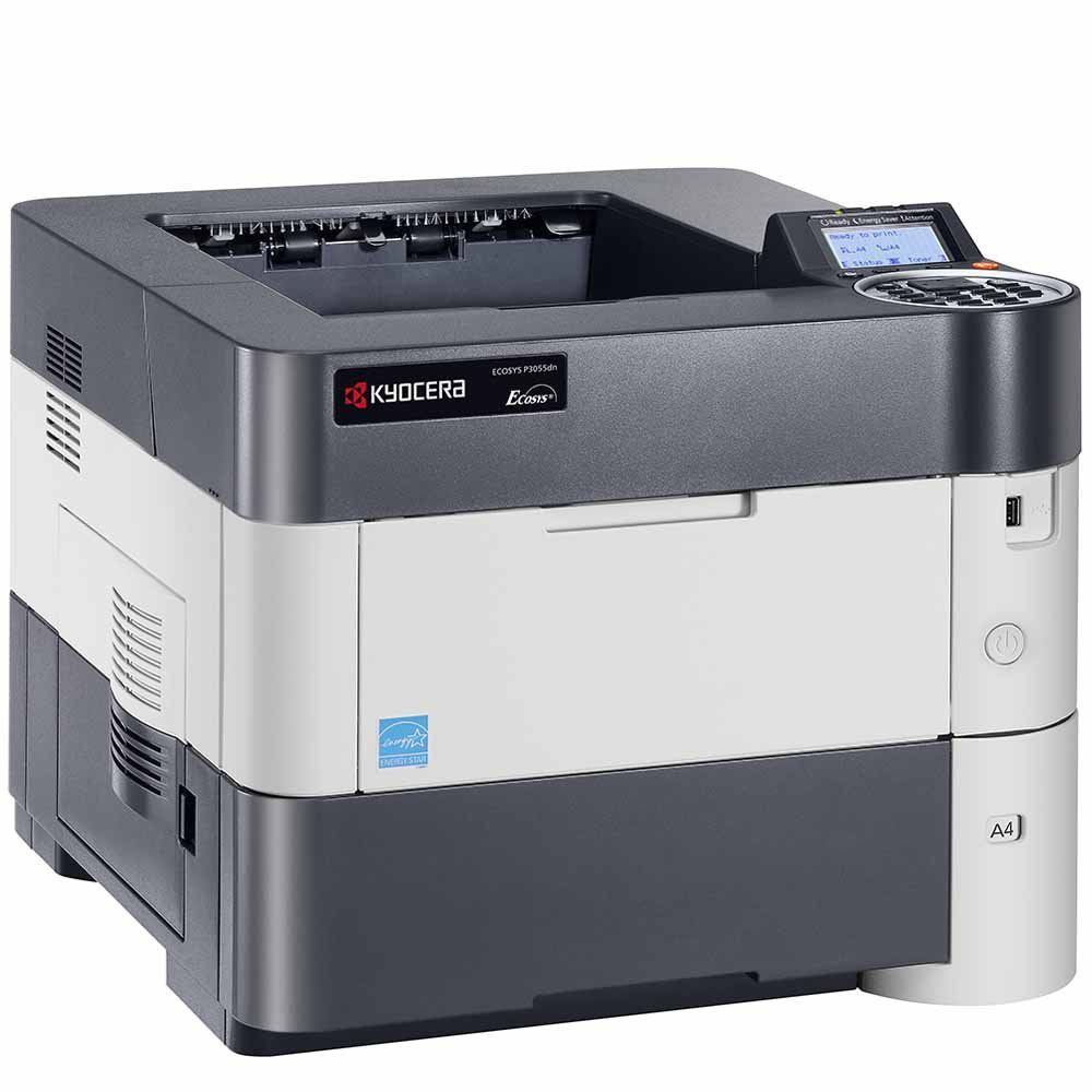 Impressora Laser Mono Ecosys P3055DN Kyocera