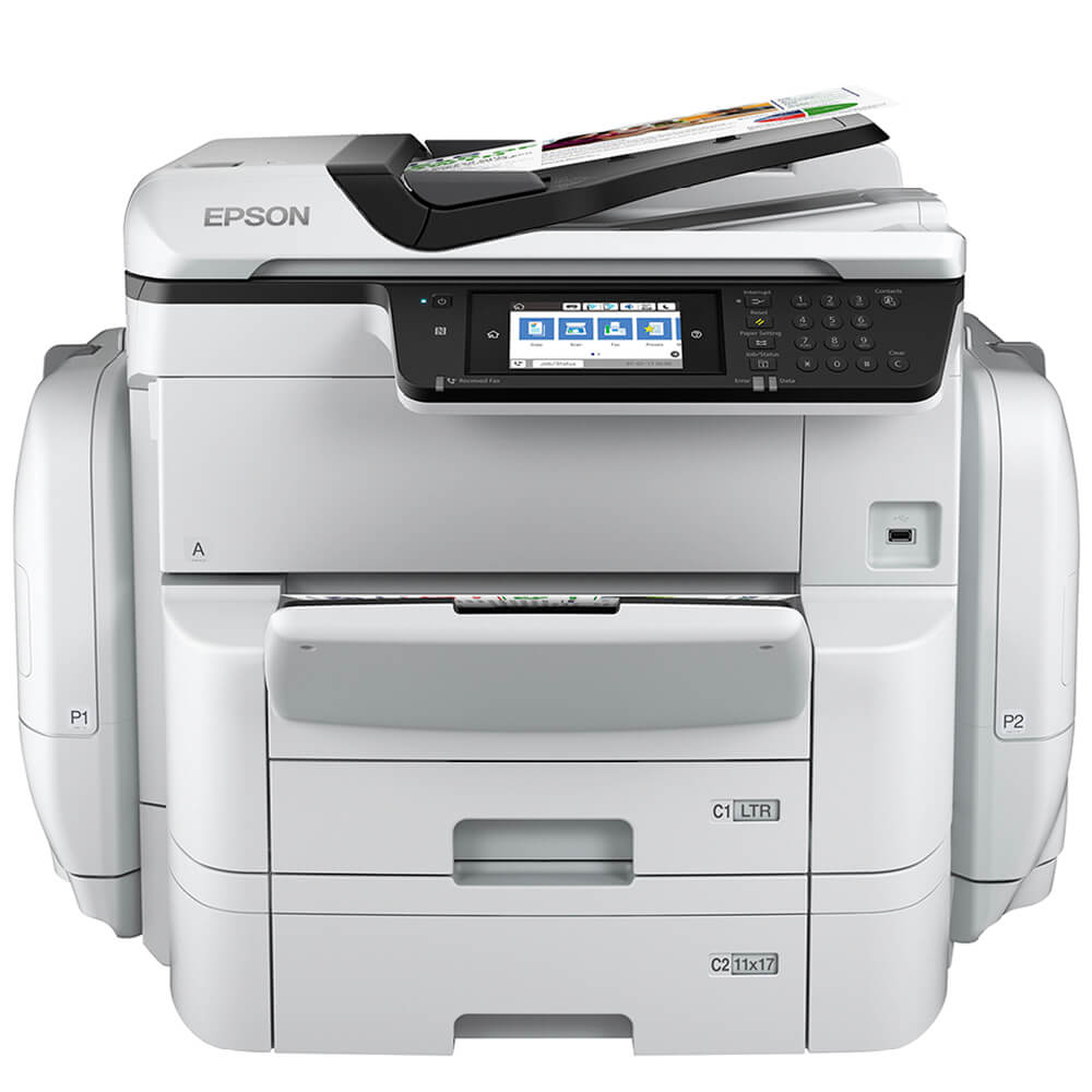 Multifuncional Epson Workforce Pro C11cf34201 Wf-c869r Jato de Tinta Colorida Usb, Ethernet e Wi-fi Bivolt