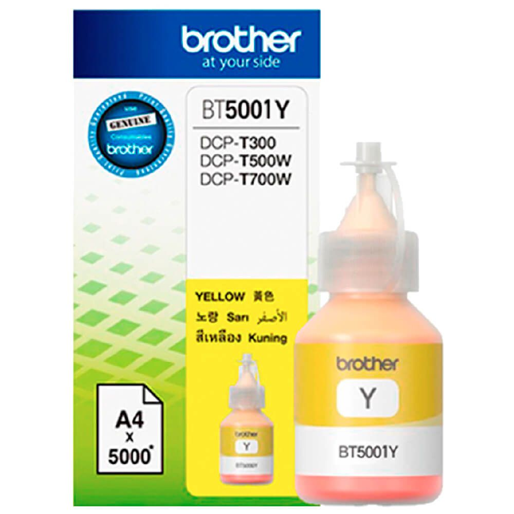 Refil de Tinta Brother BT5001Y Amarelo